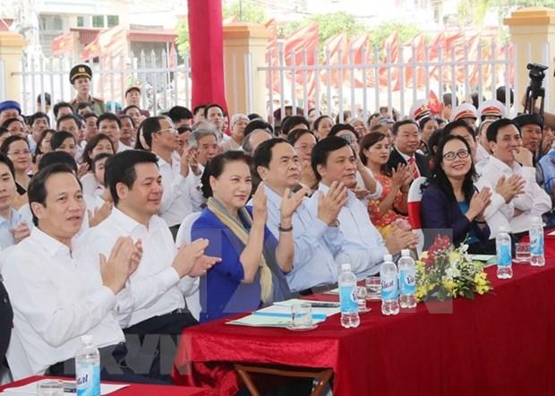 La presidente de l'AN a la Fete de la grande union a Thai Binh hinh anh 1
