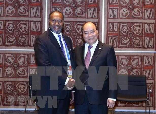 Le Premier ministre Nguyen Xuan Phuc rencontre son homologue vanuatais hinh anh 1