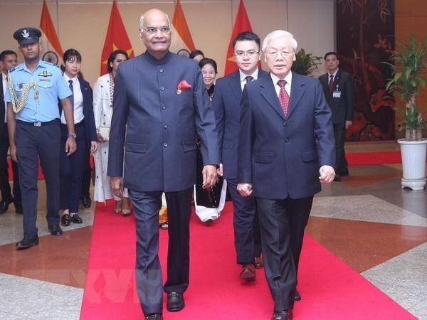 Le president indien Ram Nath Kovind termine sa visite d'Etat au Vietnam hinh anh 1