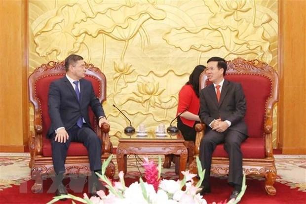 Une delegation du parti Nur Otan du Kazakhstan au Vietnam hinh anh 1