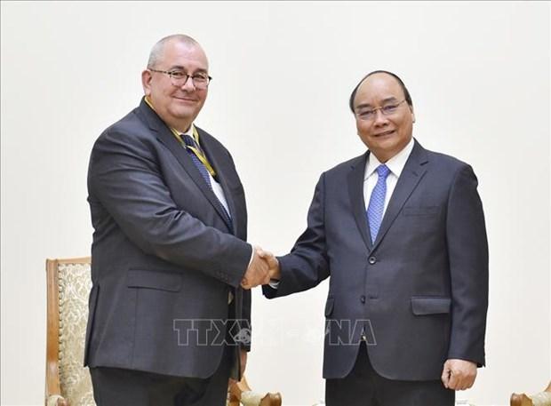 Le Premier ministre Nguyen Xuan Phuc recoit l'ambassadeur de Belgique hinh anh 1