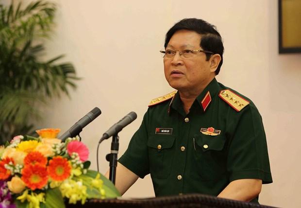 Le ministre de la Defense rencontre le chef d'etat-major de l'armee de terre indienne hinh anh 1