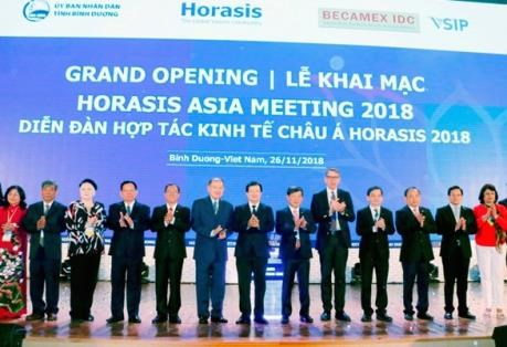 L'Horasis Asia Meeting 2018 s'ouvre a Binh Duong hinh anh 1