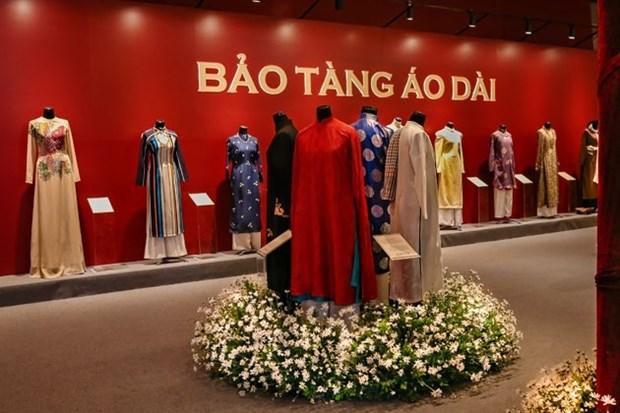 Ao dai, star de l'exposition «Espace du Patrimoine du Vietnam» hinh anh 2