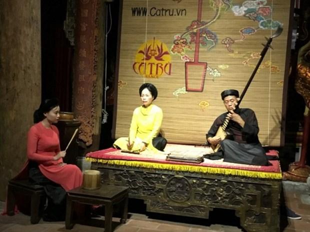 Hanoi donne une nouvelle jeunesse au ca tru, patrimoine culturel mondial hinh anh 1