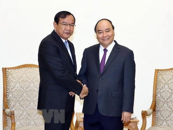 Le PM se felicite du developpement des relations Vietnam-Cambodge hinh anh 1