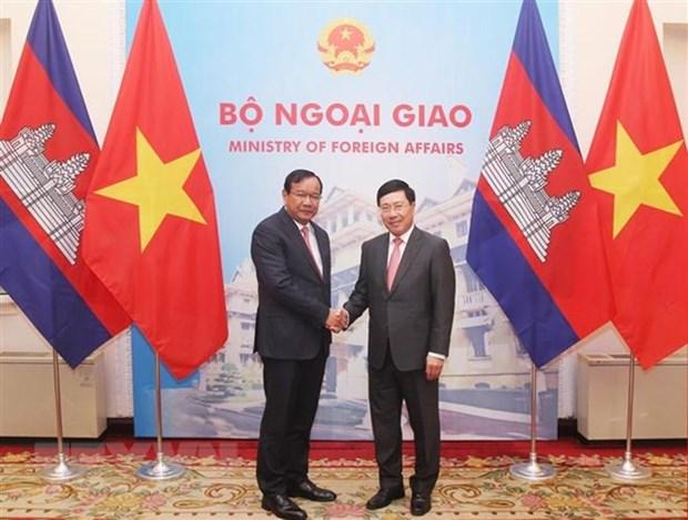 Renforcement des relations Vietnam - Cambodge hinh anh 1