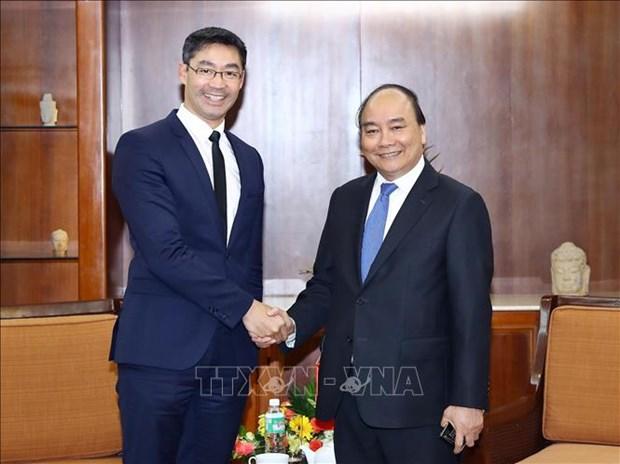 Le Premier ministre Nguyen Xuan Phuc recoit un ancien vice-chancelier allemand hinh anh 1