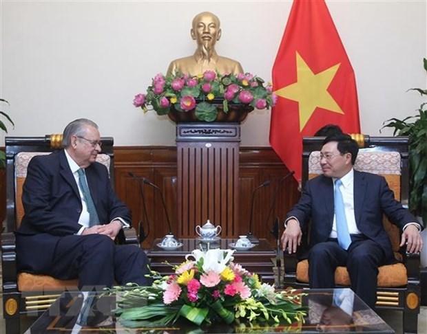 Le vice-PM Pham Binh Minh recoit le president du groupe de vision de l'APEC hinh anh 1