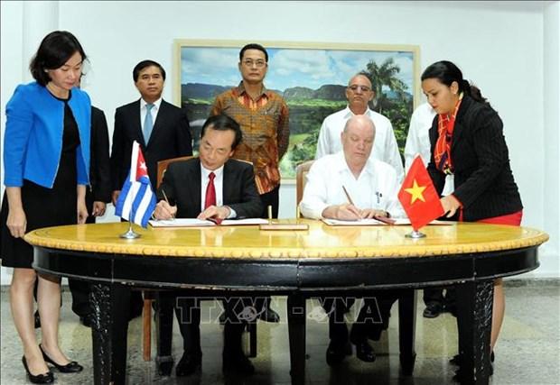 Le Comite intergouvernemental Vietnam-Cuba clot sa 36e session hinh anh 1