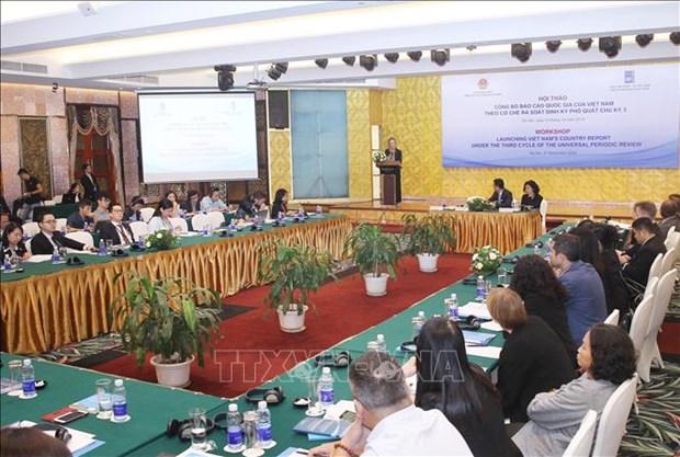 Droits de l'Homme : presentation du Rapport national pour le 3e Cycle de l'EPU hinh anh 1