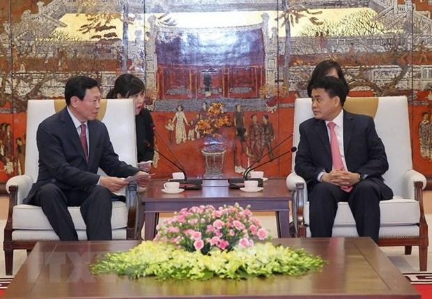 Le groupe sud-coreen Lotte veut augmenter ses investissements a Hanoi hinh anh 1