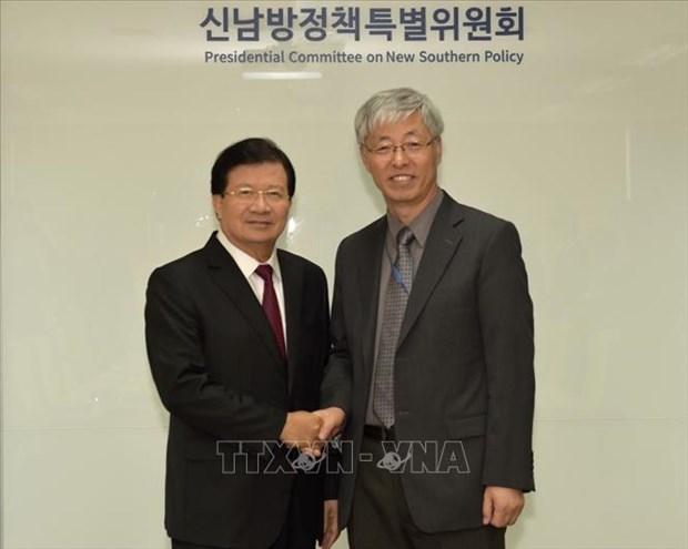 La visite du vice-PM Trinh Dinh Dung en R. de Coree est couronnee de succes hinh anh 1
