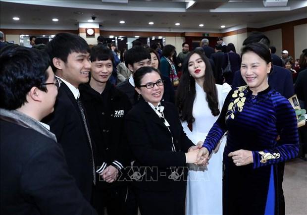 Les medias sud-coreens apprecient la visite de la presidente de l'AN vietnamienne hinh anh 1