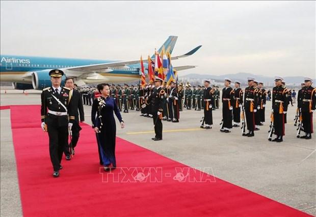 La presidente de l'AN Nguyen Thi Kim Ngan est arrivee a Seoul hinh anh 1