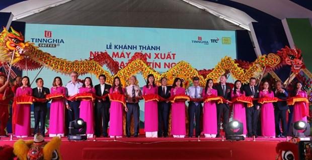 Une grande usine de cafe inauguree dans la province de Dong Nai hinh anh 1