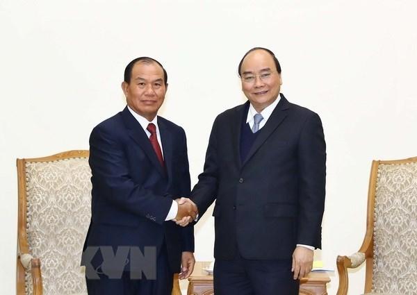 Le Premier ministre recoit le ministre laotien de la Justice hinh anh 1