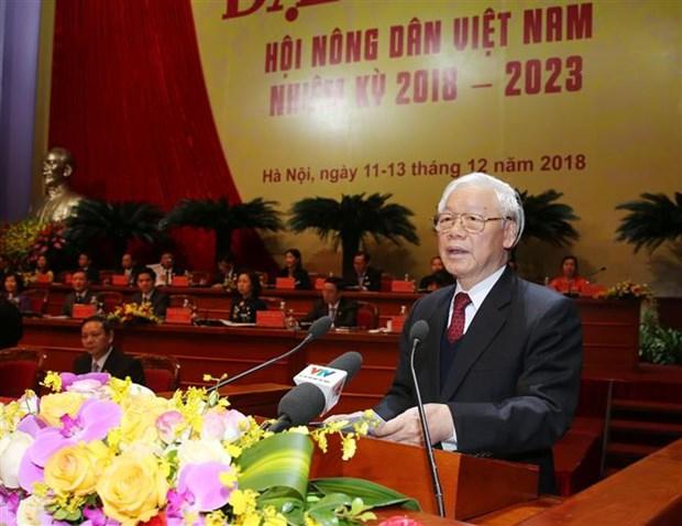 Congres de l'Association des paysans: le president Nguyen Phu Trong montre la voie hinh anh 1