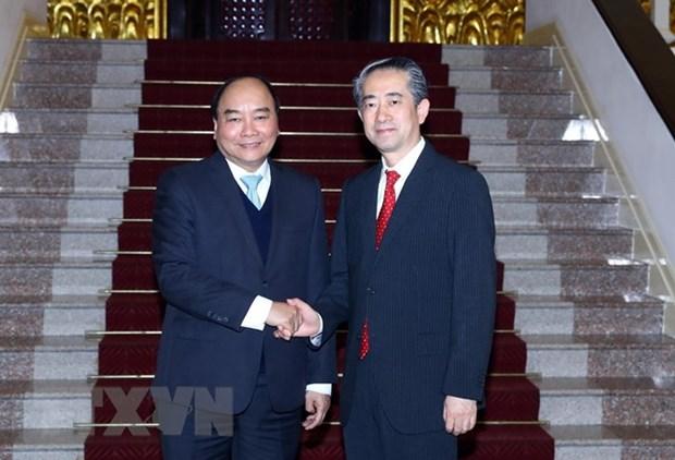 Le PM recoit les nouveaux ambassadeurs de Chine et du Danemark hinh anh 1