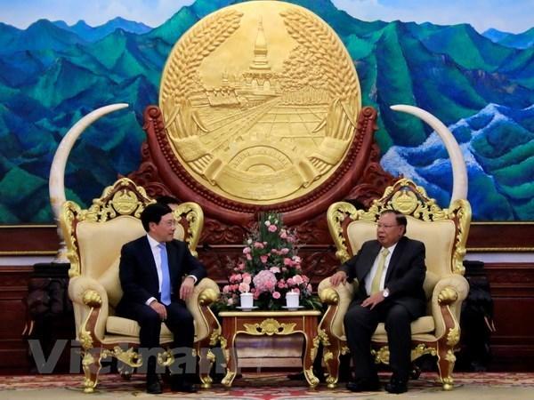 Le vice-PM Pham Binh Minh en visite officielle au Laos hinh anh 1