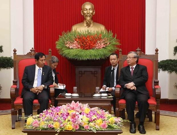 La delegation de l'USDP du Myanmar en visite au Vietnam hinh anh 1