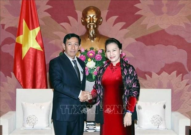 La presidente de l'AN recoit une delegation du Parti birman USDP hinh anh 1