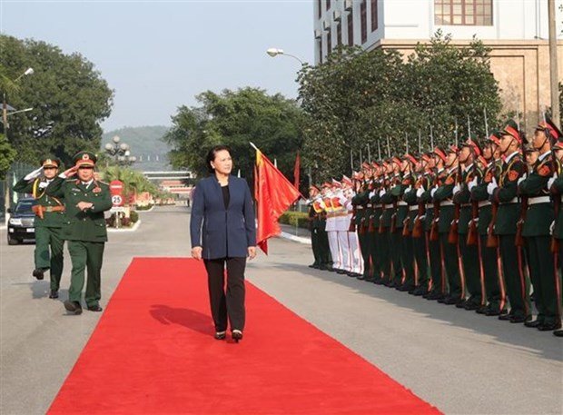La presidente de l'Assemblee nationale se rend dans la Region militaire 1 hinh anh 1