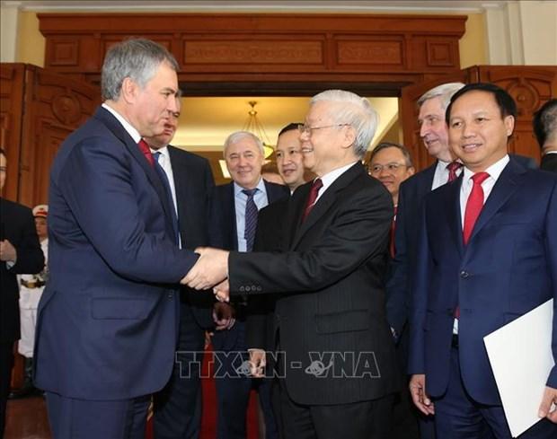 Le president de la Douma d'Etat russe termine sa visite officielle au Vietnam hinh anh 1
