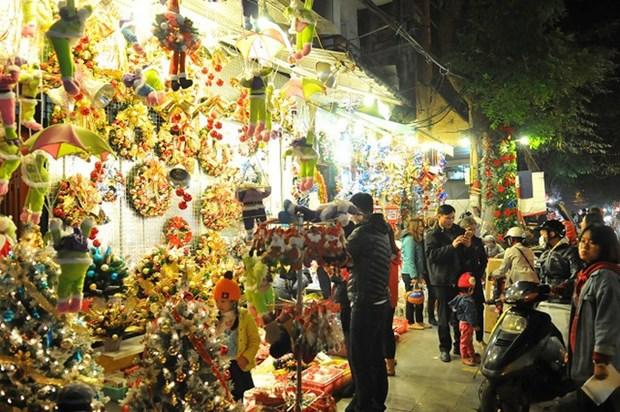 Hanoi brille de mille feux a l'approche de Noel hinh anh 1