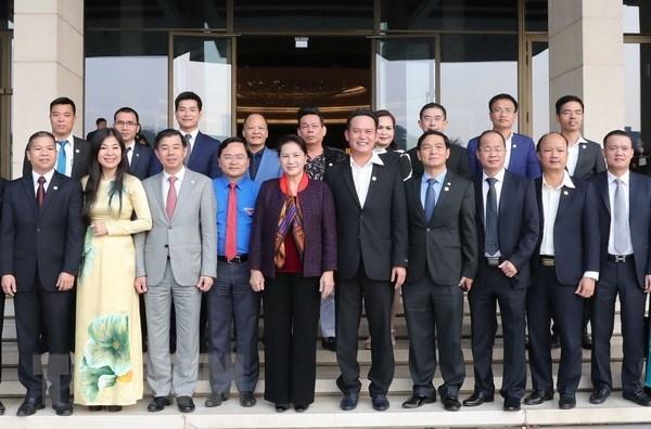 La presidente de l'Assemblee nationale rencontre de jeunes entrepreneurs hinh anh 1
