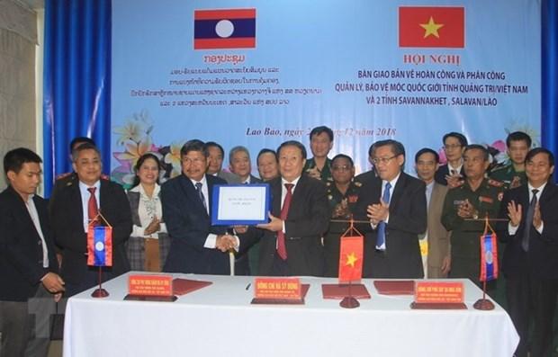 Quang Tri et des provinces laotiennes cooperent dans la protection de la frontiere hinh anh 1