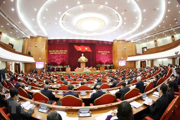 La premiere journee du 9e Plenum du CC du PCV hinh anh 1