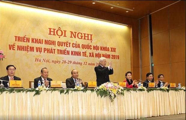 Le secretaire general et president fixe quatre taches essentielles pour 2019 hinh anh 1