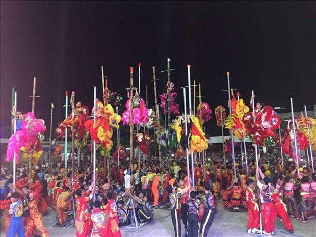 Ba Ria-Vung Tau : 50 equipes au Festival de danse des licornes-lions-dragons hinh anh 1