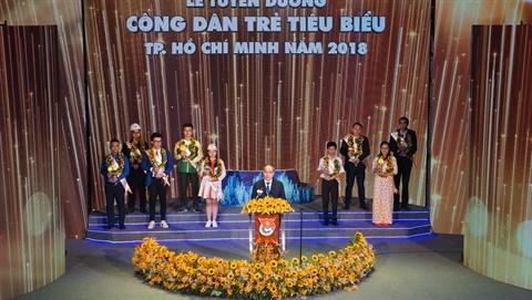 Neuf jeunes citoyens exemplaires de Ho Chi Minh-Ville a l'honneur hinh anh 1