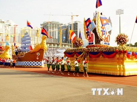 Celebration de la victoire sur le regime genocidaire a Phnom Penh hinh anh 1
