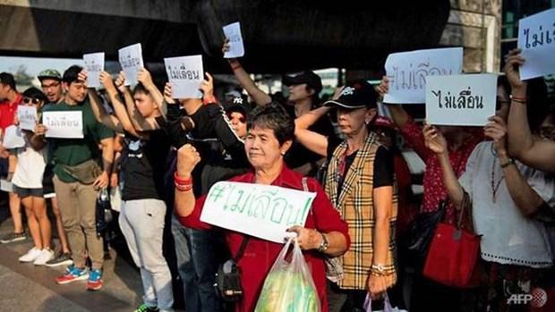 Thailande: Les manifestants demandent de ne pas retarder les elections generales hinh anh 1