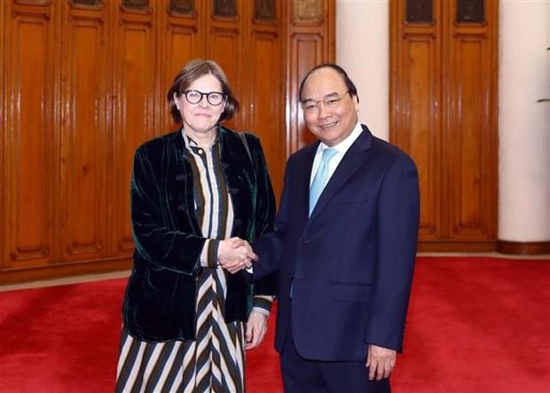 Le PM recoit la vice-presidente du Parlement europeen Heidi Hautala hinh anh 1