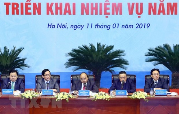 Le PM Nguyen Xuan Phuc a la conference-bilan de 2018 de PetroVietnam hinh anh 1