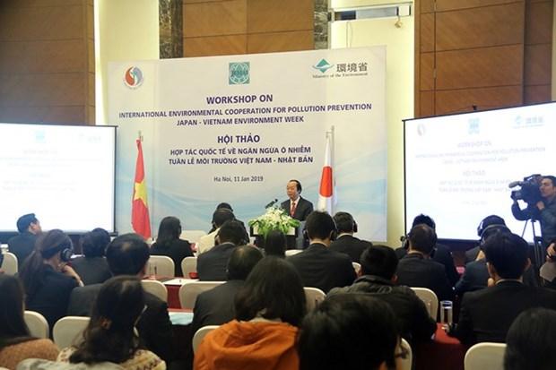Le Vietnam et le Japon cooperent pour prevenir la pollution environnementale hinh anh 1