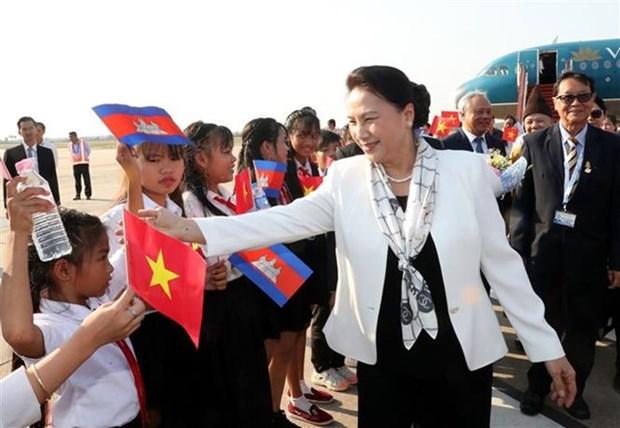 La presidente de l'Assemblee nationale arrive a Siem Reap pour la FPAP-27 hinh anh 1