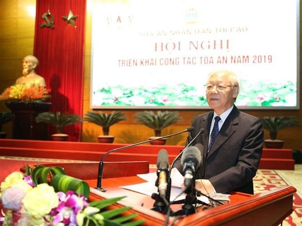 Le leader du Parti demande de renforcer la reforme judiciaire hinh anh 1