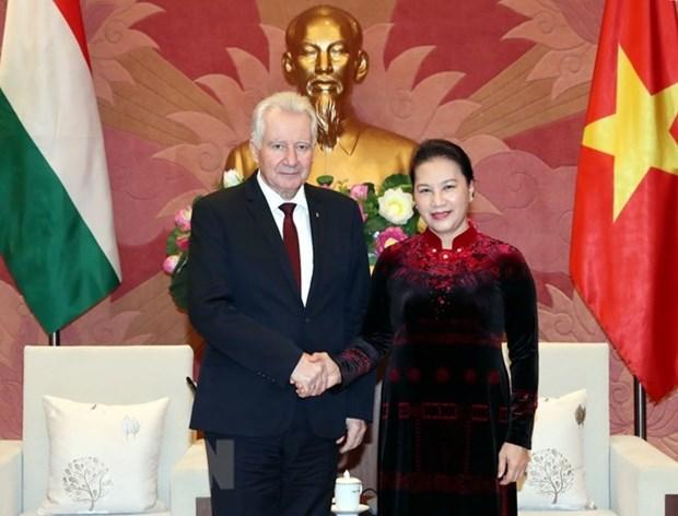 La presidente de l'AN appelle a l'appui de la Hongrie pour l'approbation de l'EVFTA hinh anh 1