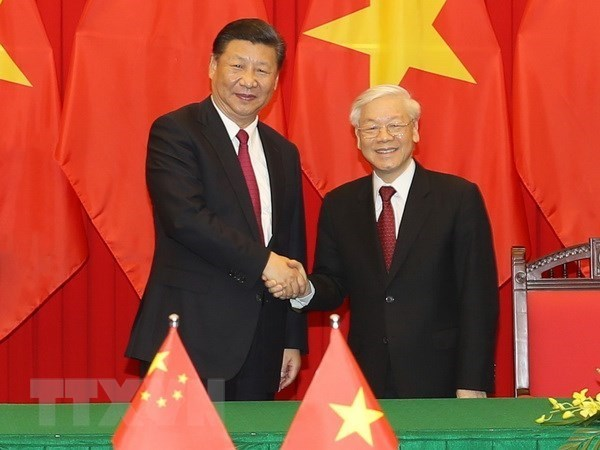 Vietnam-Chine: echange des messages de felicitations a l'occasion des 69 ans des liens diplomatiques hinh anh 1
