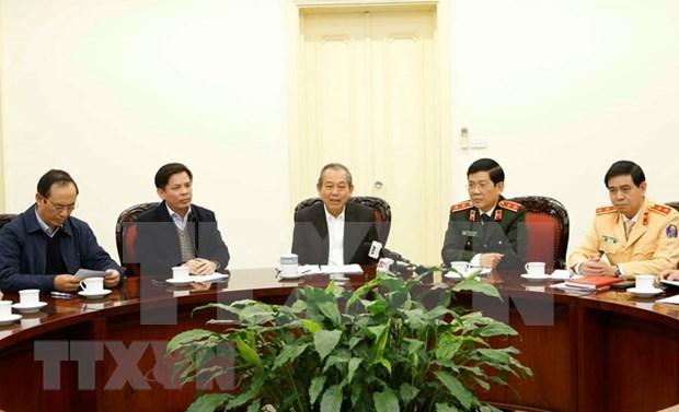 Le vice-PM permanent Truong Hoa Binh veut des routes plus sures hinh anh 1