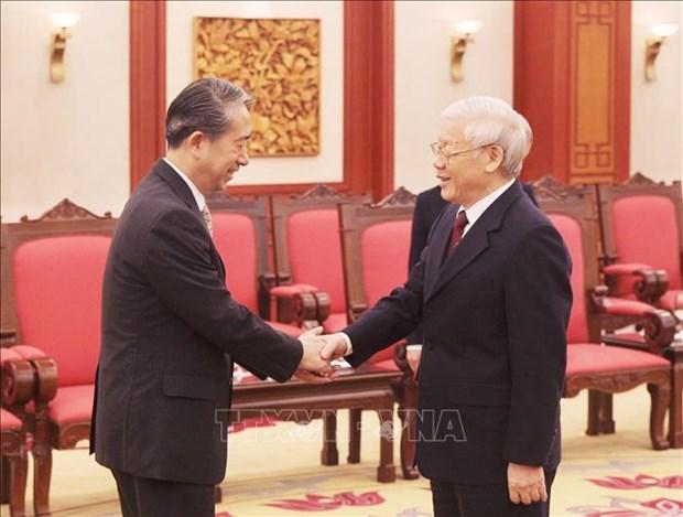 Le SG du Parti et president Nguyen Phu Trong recoit l'ambassadeur chinois hinh anh 1