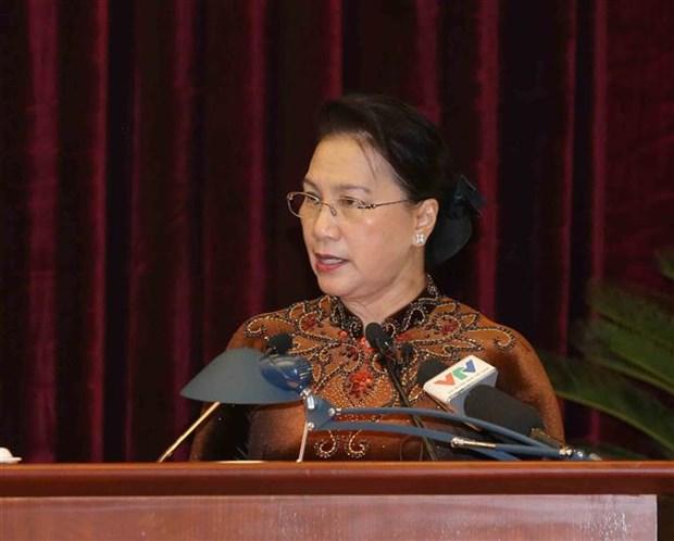 La presidente de l'AN souligne le controle et la surveillance par le Parti hinh anh 1