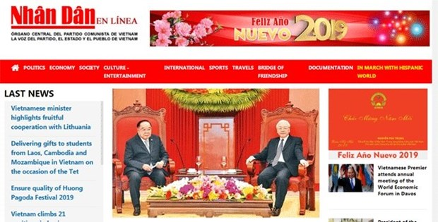 Inauguration de la version espagnole du Journal Nhan Dan en ligne hinh anh 1