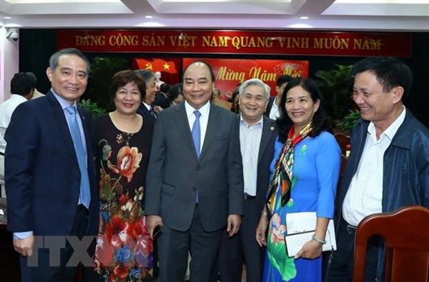 Le PM rencontre des responsables de la region centrale hinh anh 1