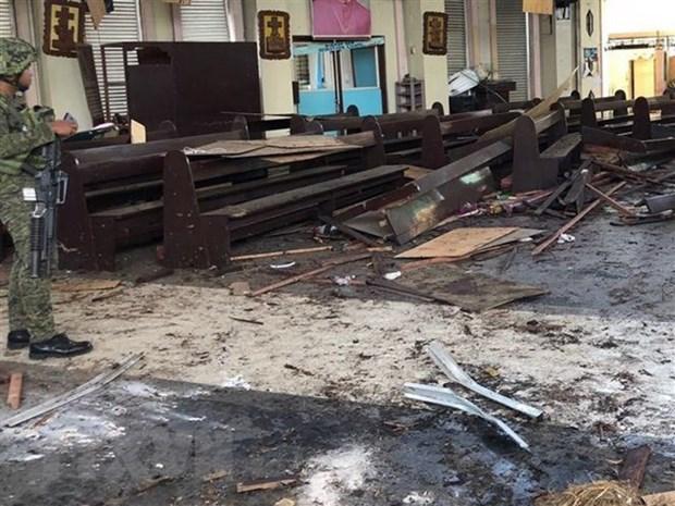 L'EI revendique le double attentat contre une cathedrale aux Philippines hinh anh 1